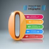 Zero infographic Numerowa ikona Zdjęcie Royalty Free