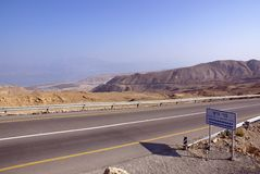 Zero level. Kind to the Dead Sea from zero level of the World ocean Stock Image