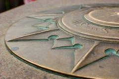 Zero Milestone Washington DC, Detail of South Point Stock Images