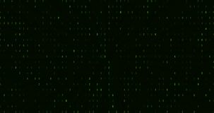 Zero and one green binary digital code, computer generated seamless loop abstract motion background, new technology stock footage