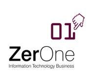 Zero One Logo. Logo Design for information technology Company Royalty Free Stock Photos