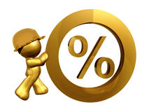Zero percent interest rate Stock Image