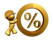 Zero percent interest rate. Illustration Stock Image
