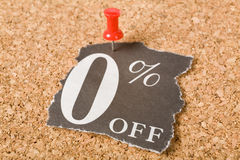 Zero percent off. Concept of sale, marketing Stock Images
