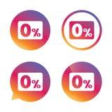 Zero percent sign icon. Zero credit symbol. Stock Photography