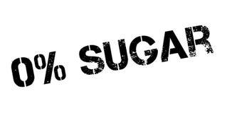 Zero percent sugar rubber stamp Royalty Free Stock Photos