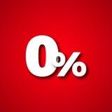 Zero percent vector illustration Stock Photo