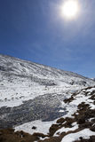 Sunshine at Zero Point North Sikkim. Royalty Free Stock Photography