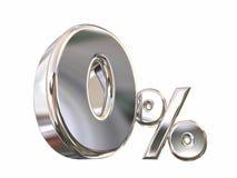 Zero procentu (0) depresja Żadny stopy procentowej Finansować Zdjęcia Stock