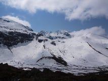 Zero punkt Sikkim niebo, Dokąd cywil Drogowe końcówki, Sikkim WEWNĄTRZ Obraz Stock