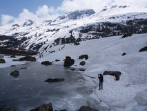 Zero punkt Sikkim niebo, Dokąd cywil Drogowe końcówki, Sikkim WEWNĄTRZ Obrazy Royalty Free