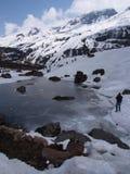 Zero punkt Sikkim niebo, Dokąd cywil Drogowe końcówki, Sikkim WEWNĄTRZ Fotografia Royalty Free