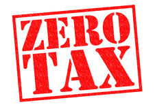 ZERO TAX. Red Rubber Stamp over a white background Royalty Free Stock Photos