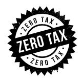 Zero Tax rubber stamp Royalty Free Stock Image