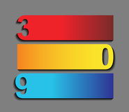 Zero three nine - the  of progress icons in three steps Royalty Free Stock Photography