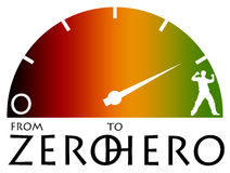 Zero to hero Stock Image