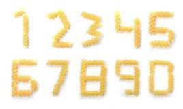 Zero to nine pasta numbers Stock Photography