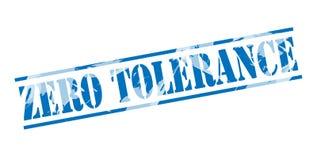 Zero tolerance blue stamp. Isolated on white background vector illustration