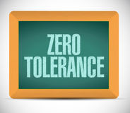 Zero tolerance message illustration design Royalty Free Stock Photography