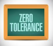 Zero tolerance message illustration design. Over a white background royalty free illustration