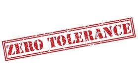 Zero tolerance red stamp. On white background stock illustration
