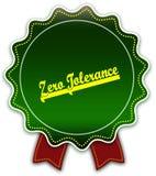 ZERO TOLERANCE round green ribbon. Illustration graphic design concept image royalty free illustration