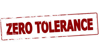 Zero tolerance. Rubber stamp with text zero tolerance inside, vector illustration Stock Photography