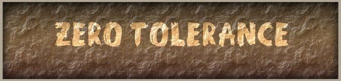 ZERO TOLERANCE written with paint on rock panel background. Illustration royalty free illustration