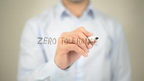 Zero Tolerancji, mężczyzna writing na przejrzystym ekranie Obraz Royalty Free