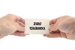 Zero tolerancji teksta pojęcie Fotografia Royalty Free