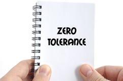 Zero tolerancji teksta pojęcie Obrazy Royalty Free