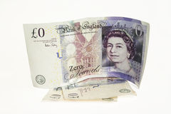 Zero Value Bank Note. English Bank Note with Zero Pounds Value Royalty Free Stock Images