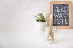 Zero waste concept. Eco-friendly bathroom accessories, copyspace. Zero waste, Recycling, Sustainable lifestyle concept. Eco-friendly bathroom accessories stock image