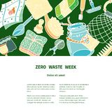 Zero waste similar 2 vector illustration