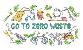 Zero Waste illustration concept stock illustration