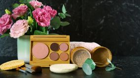 Zero-waste, plastic-free beauty and makeup reusable and refillable products. stock photography