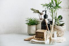 Free Zero Waste, Recycle, Reuse, Sustainable Lifestyle Concept. Eco-friendly Bathroom Accessories Royalty Free Stock Photo - 168714065