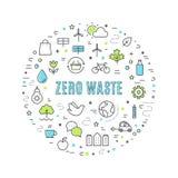 Zero Waste and Responsible Consumption Vector Illustration.  stock illustration