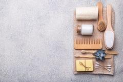 Free Zero Waste Reusable Bathroom Items Stock Images - 182719754