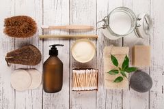 Free Zero Waste Supplies For Personal Hygiene. Sustainable Lifestyle Concept. Stock Photos - 141961253