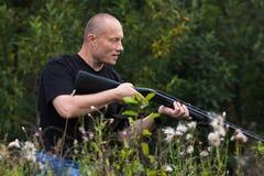 Zeroing of a  gun Stock Images