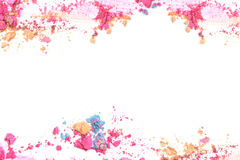 Zerquetscht bilden Sie Farbrahmen und fassen Sie mit Leerstelle für Texthintergrund ein Lizenzfreies Stockbild