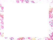 Zerquetscht bilden Sie Farbrahmen und fassen Sie mit Leerstelle für Texthintergrund ein Lizenzfreie Stockfotografie