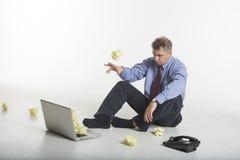 Zerquetscht durch Probleme Stockfotografie