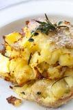Zerquetschte Braten-Kartoffeln stockbild