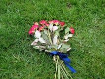 Zerquetschter Blumenstrauß Stockbilder