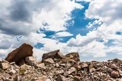 Zerquetschter Granit lizenzfreies stockbild