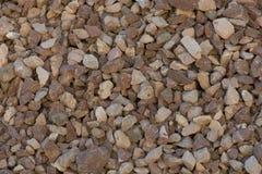 Zerquetschter Stein für Bau stockfotografie