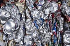 Zerquetschtes Metall kann Abstraktion Lizenzfreies Stockbild