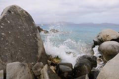 Zerquetschung der Welle am Bad-Nationalpark Lizenzfreies Stockbild